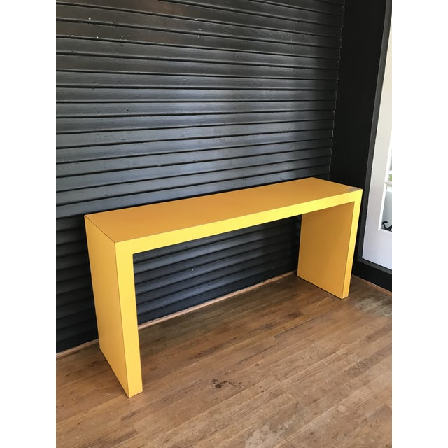 1960s Contemporary Tangerine Console For Sale - Image 4 of 4