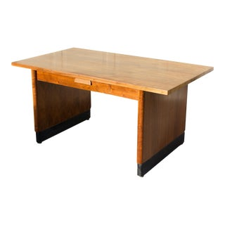 Minimal Mid Century Modern Walnut Executive Desk