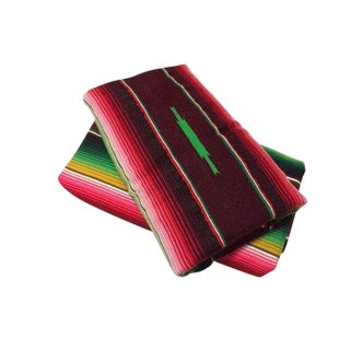 1970s Vintage Mexican Serape Throws - A Pair For Sale