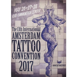 2017 Contemporary Dutch Poster, Amsterdam International Tattoo Convention - Vince For Sale