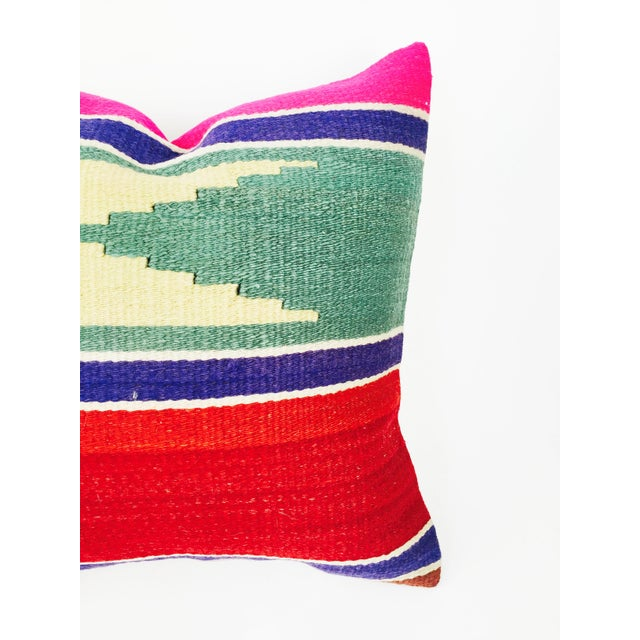 Vintage Square Kilim Pillowcase - Image 3 of 4