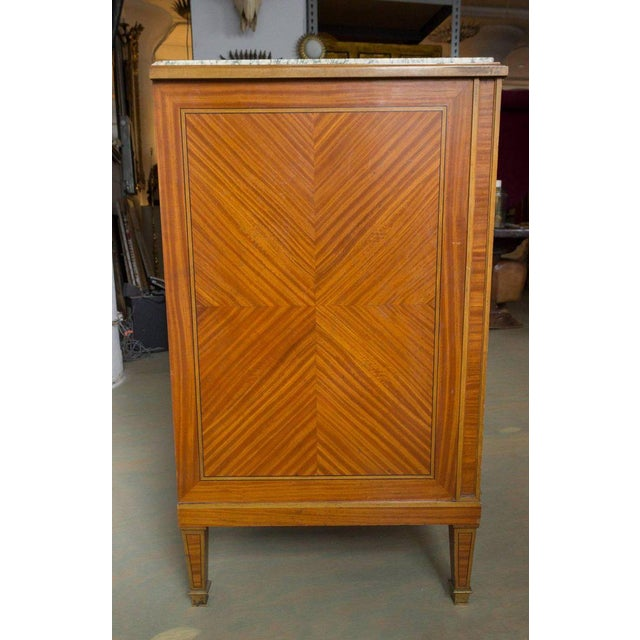 French Cabinet With Marble Top For Sale - Image 9 of 12