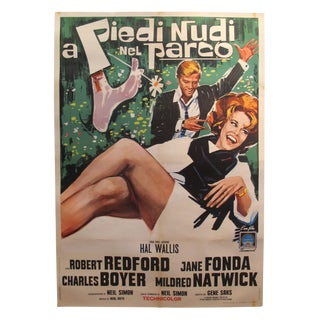 1964 Original American Movie Poster (Italian Version) - Barefoot in the Park For Sale