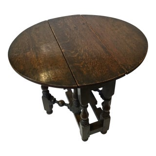 English Gate Leg Side Table For Sale