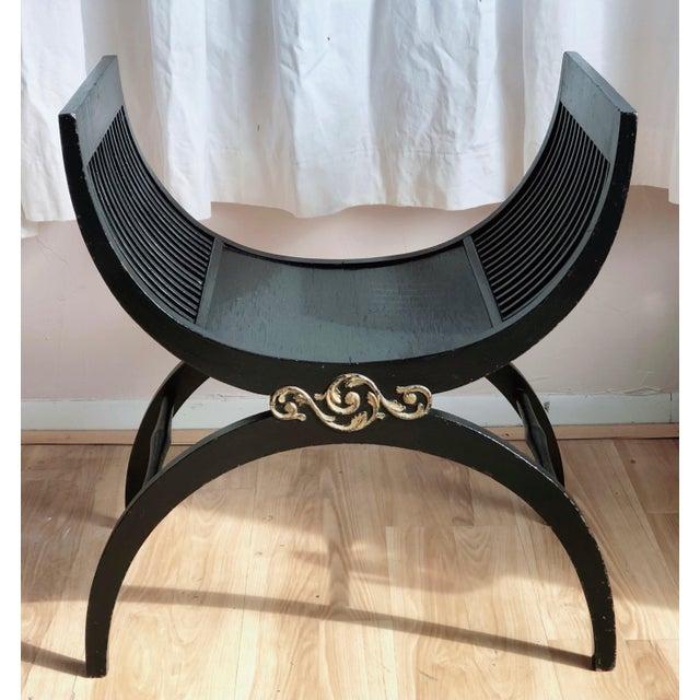 Wood Black Savonarola Chair For Sale - Image 7 of 7