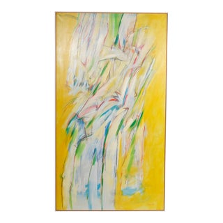 Yellow-Toned Abstract by Martin Benson, 1988 For Sale