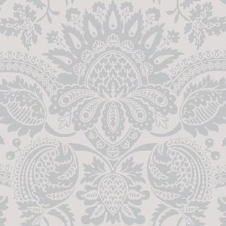 Cole & Son Dukes Damask Wallpaper Roll - Grey For Sale