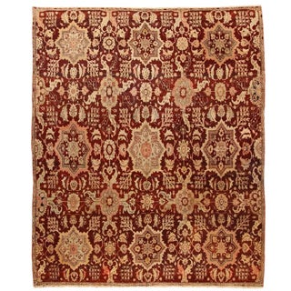 Exceptional Antique Early 19th Century Indian Agra Carpet For Sale