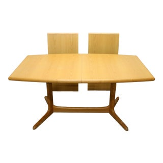 Vintage Danish Modern Skovby Dining Table With Leaves For Sale