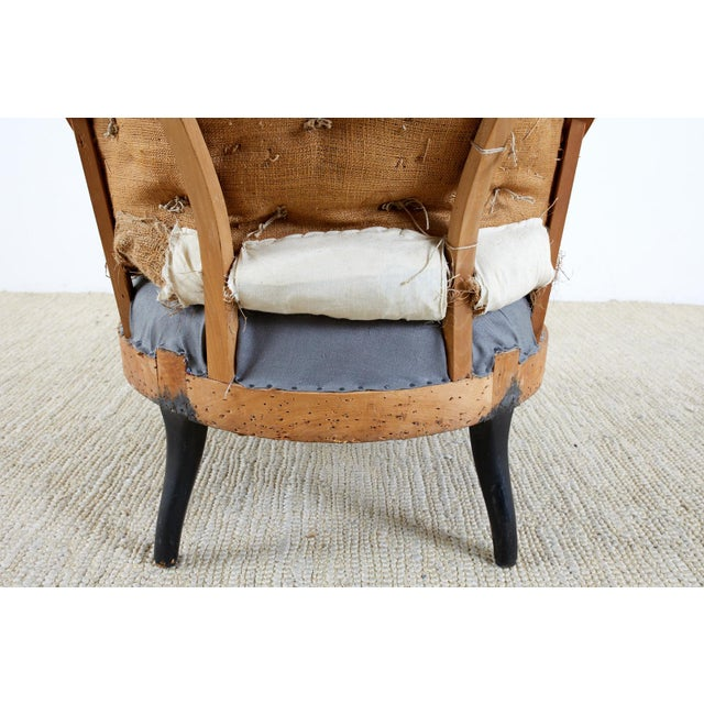 Pair of French Napoleon III Deconstructed Slipper Chairs For Sale - Image 10 of 13