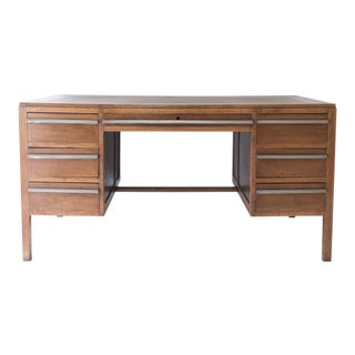 1930s Modernist Oak Desk For Sale