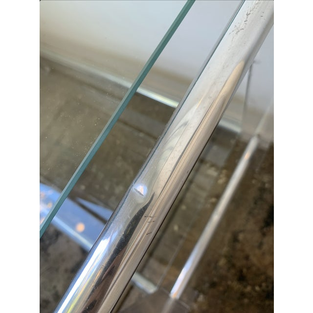 Metal Lucite and Chrome Tube Display & Shelving Unit For Sale - Image 7 of 10
