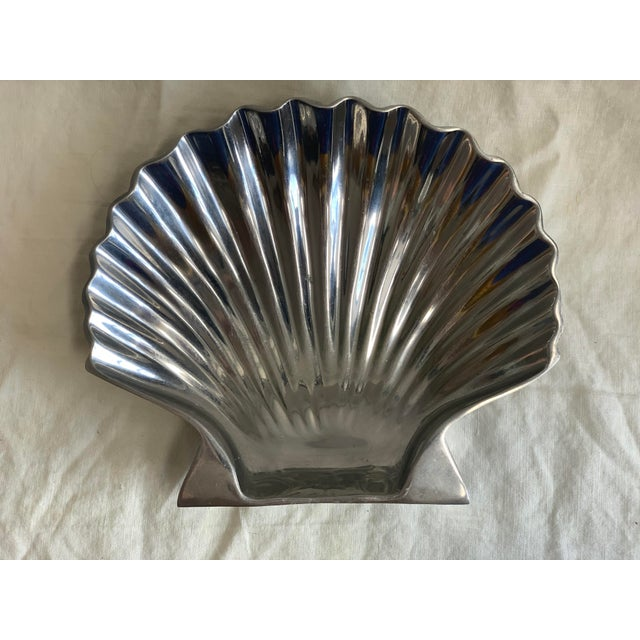Silver 1970s Shell Catchall Dish For Sale - Image 8 of 8