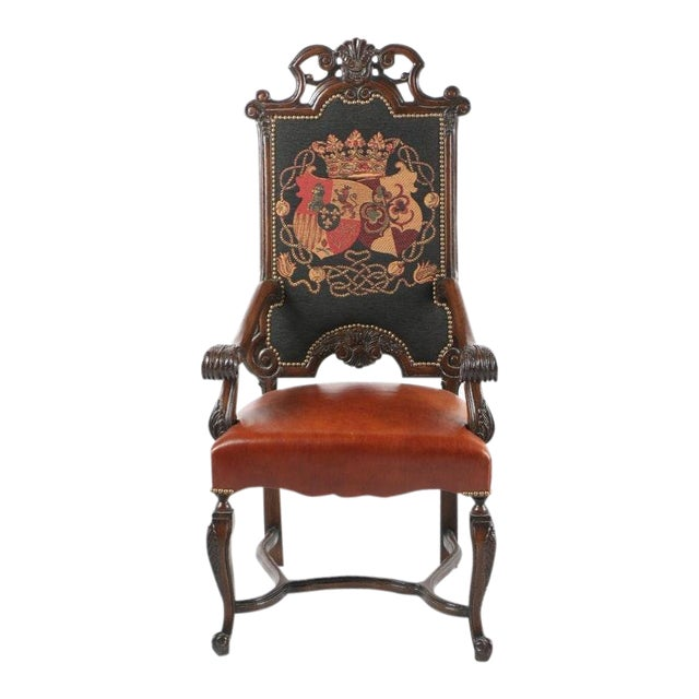 Late 20th Century Vintage Louis XIV Style Armchair For Sale