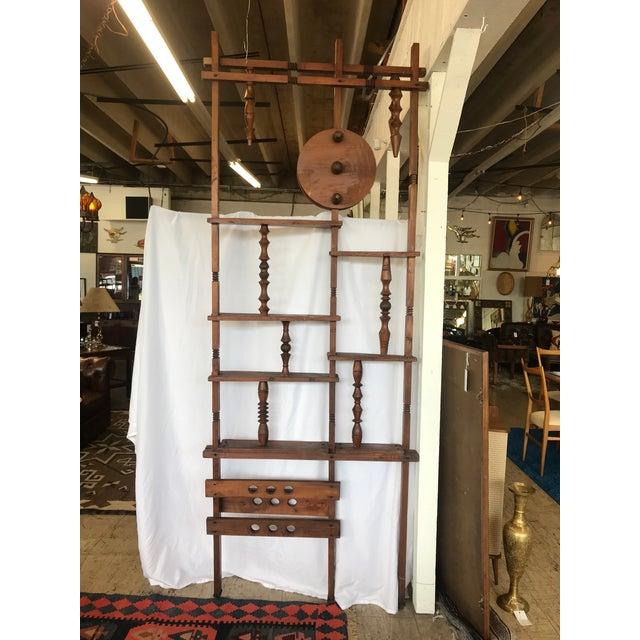 Brown Mid Century Folk Room Divider For Sale - Image 8 of 13