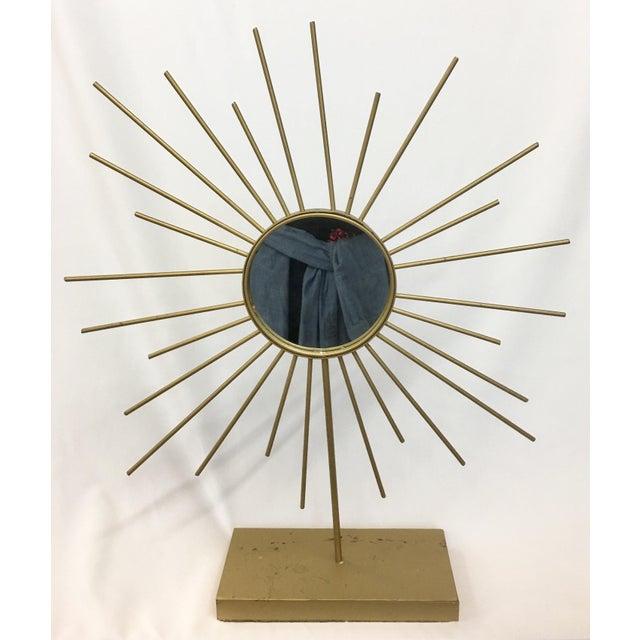 Vintage Gold Metal Starburst Vanity Mirror - Image 10 of 10