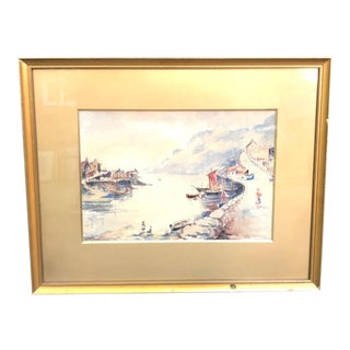 1920s Rjb Sanderson Tribal Watercolor Painting For Sale