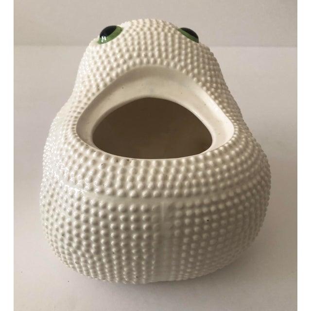 Vintage Ceramic Frog Planter For Sale - Image 9 of 11