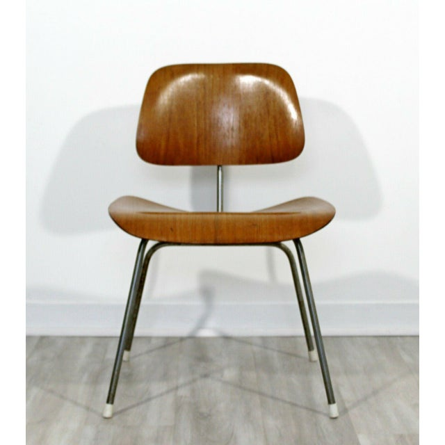 Brown Mid Century Modern Early Original Eames Herman Miller Dcm Side Chair 1950s For Sale - Image 8 of 8