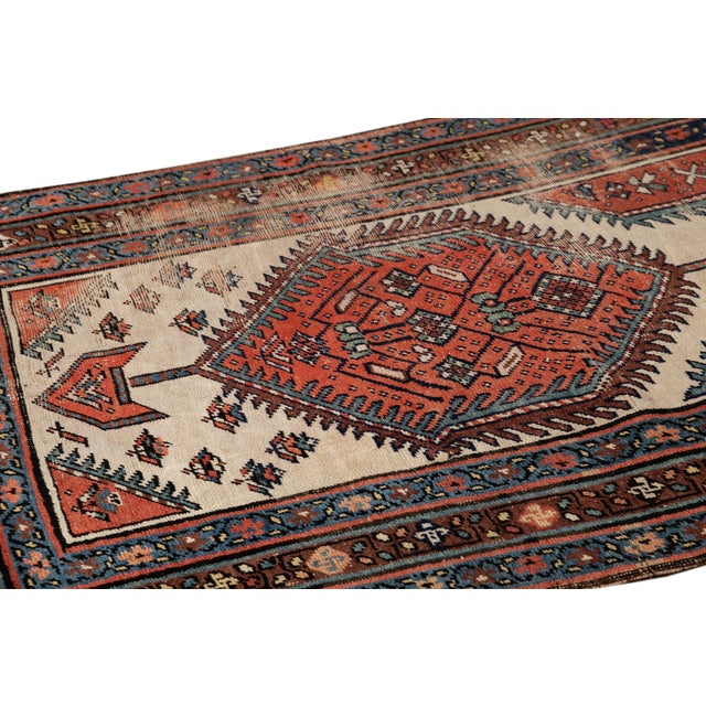 Textile Mid 20th Century Vintage Runner Rug For Sale - Image 7 of 9