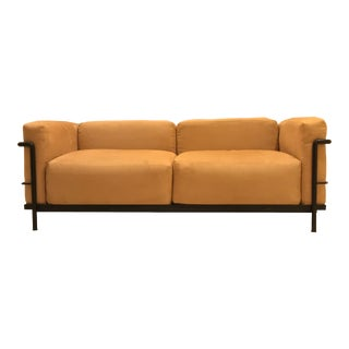 1980s Vintage Cassina Le Corbusier Lc3 Grand Comfort Two-Seat Sofa For Sale
