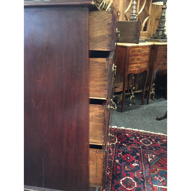 Mid 19th Century George III Mahogany Chest of Drawers, 19th Century For Sale - Image 5 of 13