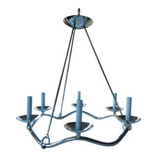 "Barry Goralnick Collection ""Choros Chandelier in Polished Nickel"" For Sale"