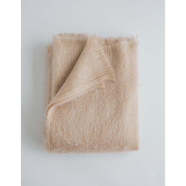 Mohair Throw in Rose For Sale - Image 13 of 13