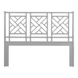 Chippendale Headboard Queen - Light Gray For Sale