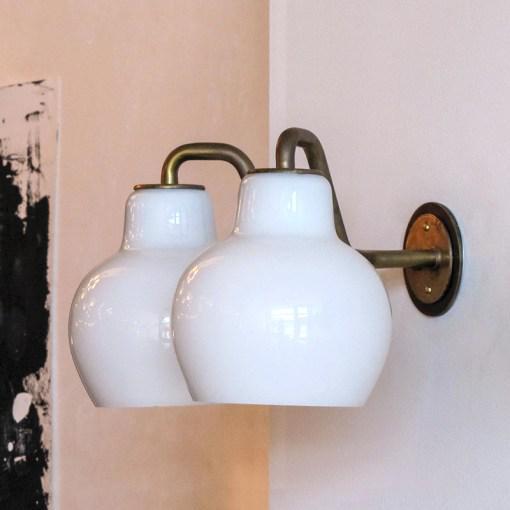 Mid-Century Modern Vilhelm Lauritzen Double Wall Lights For Sale - Image 3 of 10