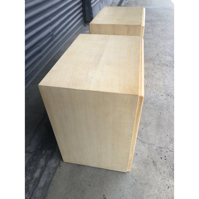 Wood Mid Century Paul Frankl X Pull Nightstands- a Pair For Sale - Image 7 of 11