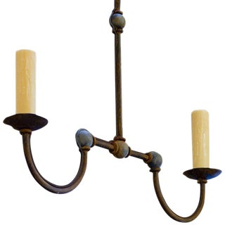 "Custom Iron ""Marion"" Small Kitchen Island Chandelier For Sale"