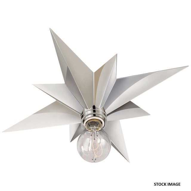 Star Flush Mount Light Fixture in Polished Nickel For Sale In Chicago - Image 6 of 6