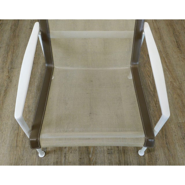 Metal Knoll Richard Schultz 1966 Patio Lounge Chair with Arms For Sale - Image 7 of 13