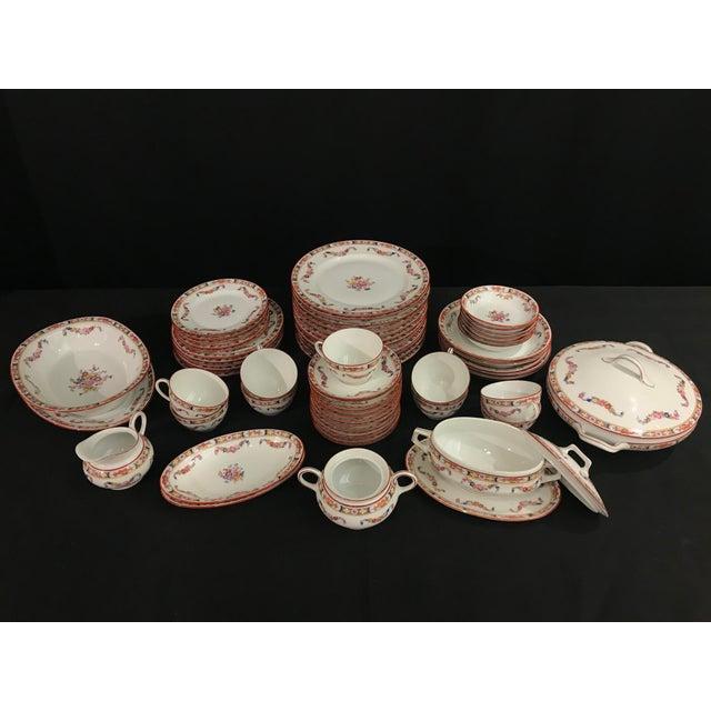 Ceramic Fraureuth Standish Floral Swag Dishes Set - 63 Piece Set For Sale - Image 7 of 7