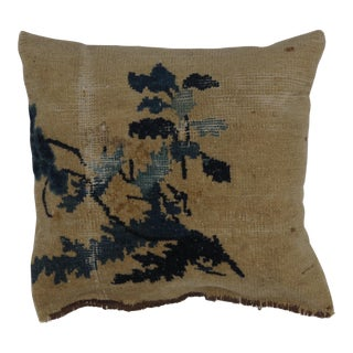 Leon Banilivi Antique Chinese Rug Fragment Pillow For Sale
