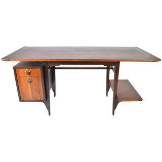 Edward Wormley Model 5735 Walnut & Rosewood Writing Desk for Dunbar, 1957 For Sale