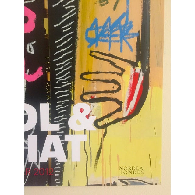 Andy Warhol & Jean Michel Basquiat Rare Limited Edition Original Offset Lithograph Print Poster For Sale - Image 10 of 11