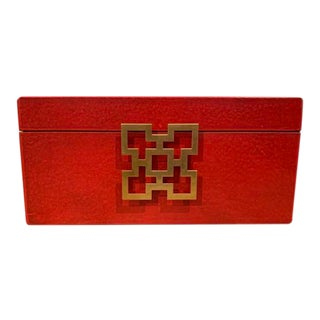 Red Wooden Jewelry Box For Sale