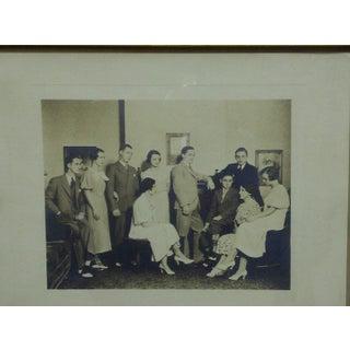 "Vintage ""Family Gathering"" Framed Black & White Photograph Preview"