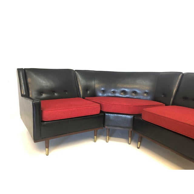 Mid Century Modern Retro 3 Piece Sectional Sofa