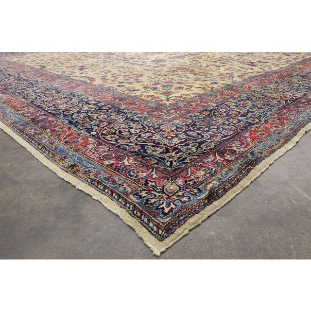 Antique Persian Kerman Palace Size Rug - 12′10″ × 15′2″ For Sale In Dallas - Image 6 of 10