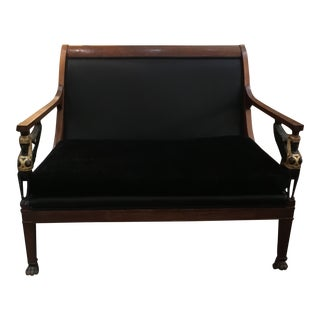 Early 20th Century Egyptian Empire Style Settee For Sale