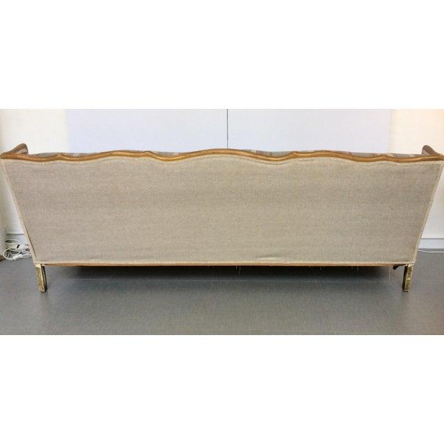 French-Style Tartan Wool Sofa - Image 5 of 6