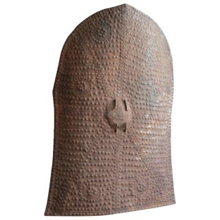 Stamped Metal Shield From the Kirdi People For Sale