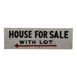 Vintage House for Sale Sign For Sale