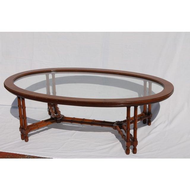 1960's Mid-Century Faux Bamboo Coffee - Image 3 of 11