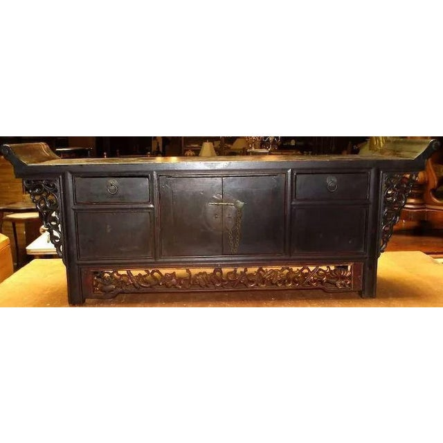 Asian Asian Chinese Altar Coffer Cabinet For Sale - Image 3 of 11