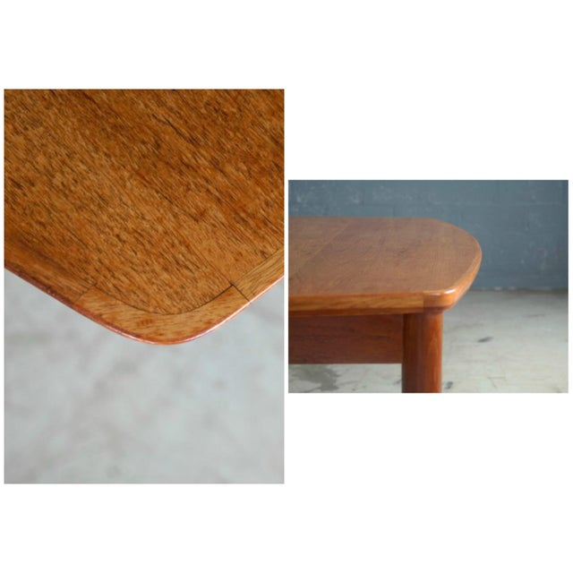 Fritz Hansen Attributed Large Conference or Dining Table Set Eight Chairs For Sale - Image 10 of 12