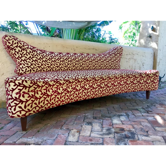 This pair of free form 8ft long couches have an incredible profile and unique shape with a nod to playful Mid-Century...